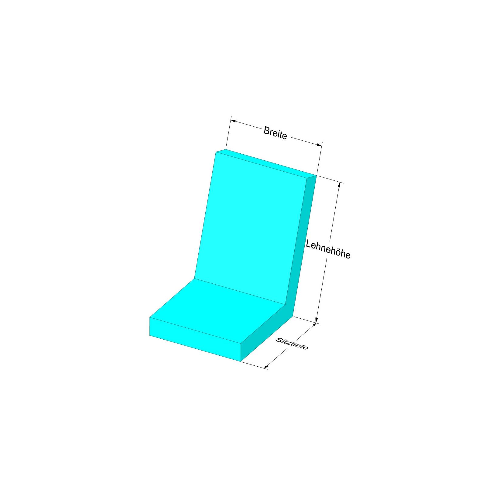 niedriglehnerauflage nach ma mit abziehbarer bezug mit. Black Bedroom Furniture Sets. Home Design Ideas