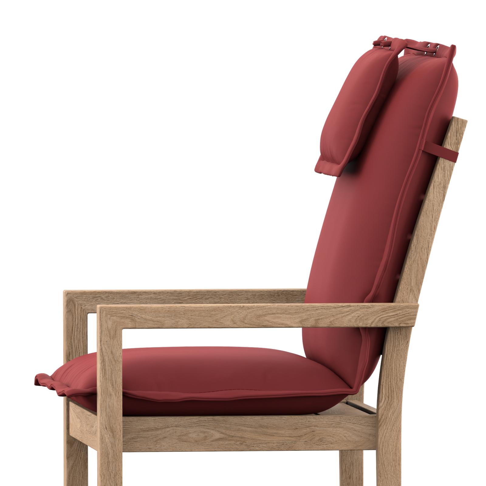 hochlehner auflage nach ma mit stehsaum abziehbarer bezug mit fleck. Black Bedroom Furniture Sets. Home Design Ideas