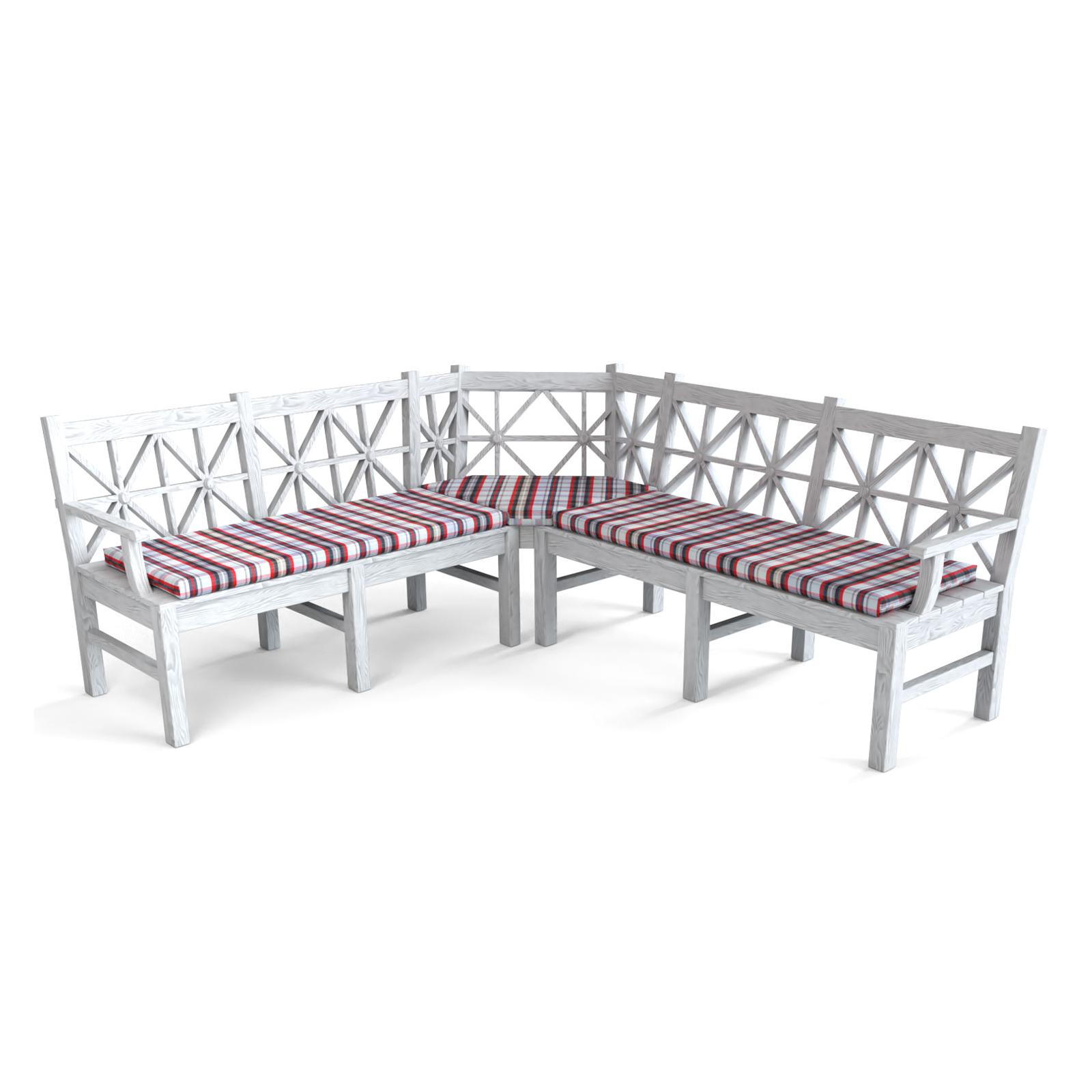 3 tlg set eckbankauflagen nach wunschma in vielen designs. Black Bedroom Furniture Sets. Home Design Ideas