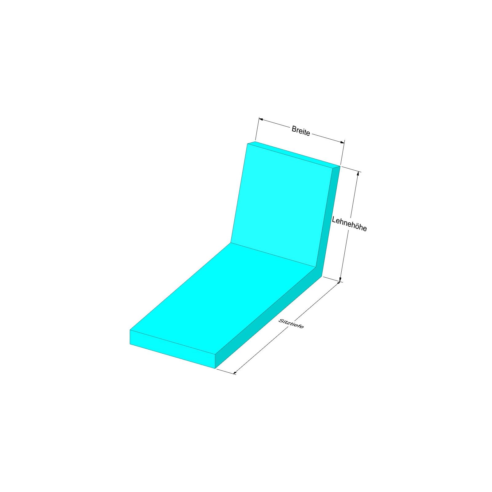 liege auflage nach ma mit stehsaum abziehbarer bezug mit fleckschut. Black Bedroom Furniture Sets. Home Design Ideas