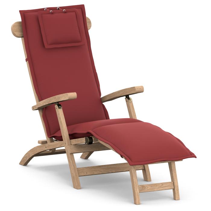 Deckchair-Auflage nach Maß mit Stehsaum, abziehbarer Bezug mit Flecks